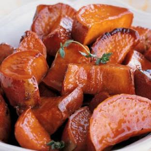 Cider Glazed Sweet Potato