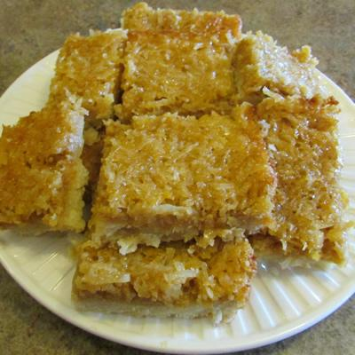 Maple Lemon Coconut Bars