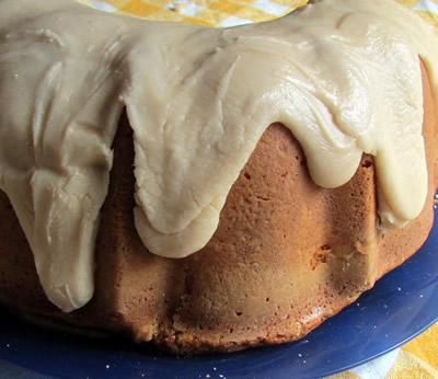 Maple Sugar Pound Cake with Browned Butter Maple Glaze