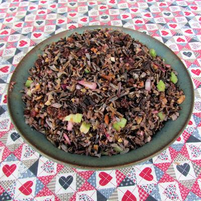 Walnut and Wild Rice Salad with Dressing